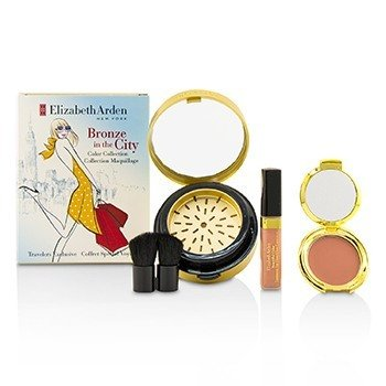 Bronze In The City Color Collection (1 x Bronzing Powder, 1 x Blush, 1 x Lip Gloss, 1 x Brush) (4pcs)