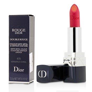 Rouge Dior Double Rouge Matte Metal Colour & Couture Contour Lipstick - # 470 Versatile Coral (3.5g/0.12oz)