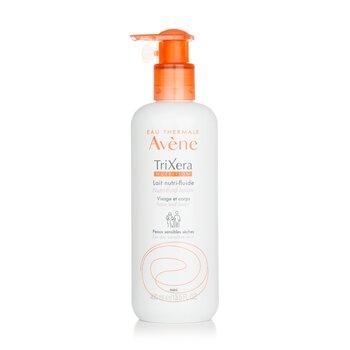 TriXera Nutrition Nutri-Fluid Face & Body Lotion - For Dry Sensitive Skin (400ml/13.5oz)