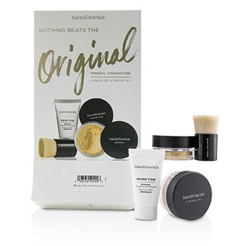 Get Started Mineral Foundation Kit - # 08 Light (Box Slightly Damaged) (4pcs)