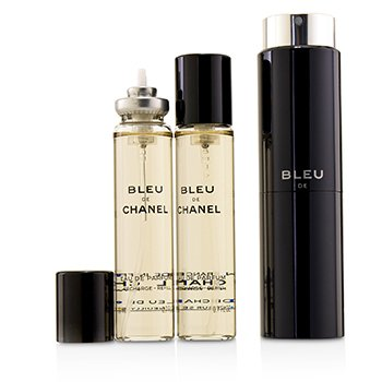 Bleu De Chanel Eau De Parfum Refillable Travel Spray (3x20ml)