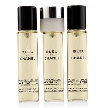 Bleu De Chanel Eau De Parfum Refillable Travel Spray Refill (3x20ml)