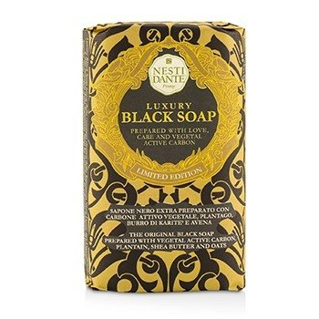 Luxury Black Soap With Vegetal Active Carbon (Limited Edition) (250g/8.8oz)