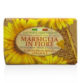 Marsiglia In Fiore Vegetal Soap - Honey & Sunflower (125g/4.3oz)