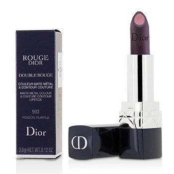 Rouge Dior Double Rouge Matte Metal Colour & Couture Contour Lipstick - # 992 Poison Purple (3.5g/0.12oz)