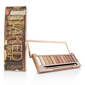 Naked Heat Palette: 12x Eyeshadow, 1x Doubled Ended Blending / Detailed Crease Brush (14g/0.49oz)