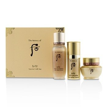 Bichup Royal Anti-Aging Trial Set: 1x First Care Moisture Anti-Aging Essence, 1x Self-Generating Anti-Aging Essence, 1x Cream (3pcs)