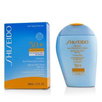 Ultimate Sun Protection Lotion WetForce For Face & Body SPF 50+ - For Sensitive Skin & Children (100ml/3.3oz)