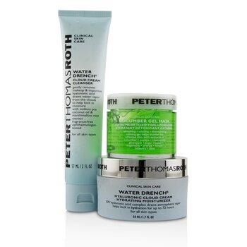 Soak It Up Kit: Water Drench Cloud Cream Moisturizer 50ml + Water Drench Cloud Cream Cleanser 57ml + Cucumber Gel Mask 50ml (3pcs)