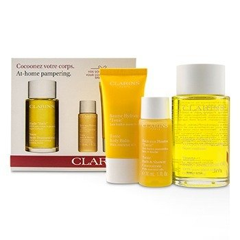 At-Home Pampering Body Kit: 1x Tonic Body Treatment Oil, 1x Bath & Shower Concentrate, 1x Tonic Body Balm (3pcs)