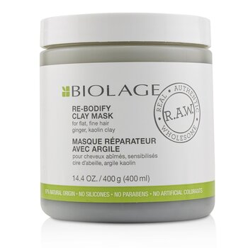 Biolage R.A.W. Re-Bodify Clay Mask (For Flat, Fine Hair) (400ml/14.4oz)