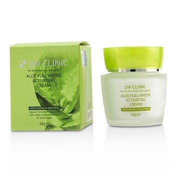 Aloe Full Water Activating Cream - For Dry to Normal Skin Types (50g/1.7oz)