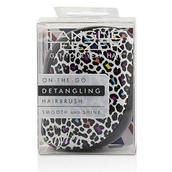 Tangle Teezer Compact Styler On-The-Go Detangling Hair Brush - # Punk Leopard 1pc - 梳子