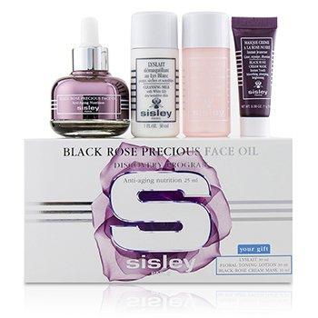 Black Rose Precious Face Oil Discovery Program: Face Oil 25ml + Lyslait 30ml + Floral Toning Lotion 30ml + Cream Mask 10ml (4pcs)