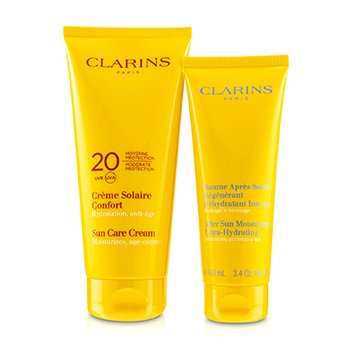 SunSet Kit: Sun Care Cream SPF 20 200ml/7oz + After Sun Moisturizer 100ml/3.4oz (2pcs)