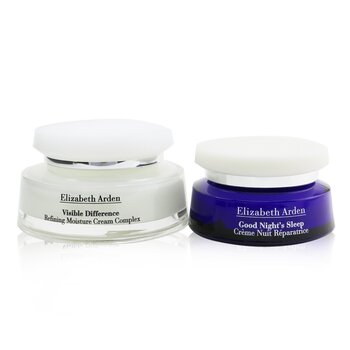 Visible Difference Day & Night Duo: Refining Moisture Cream Complex 100ml/3.4oz+Good Night's Sleep Restoring Cream 50ml/1.7oz (2pcs)