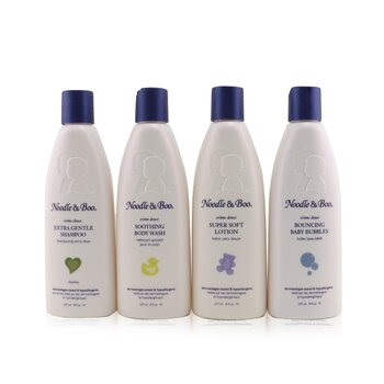 Family Fun Pack: Extra Gentle Shampoo + Super Soft Lotion + Smoothing Body Wash + Bouncing Baby Bubbles (4pcs)