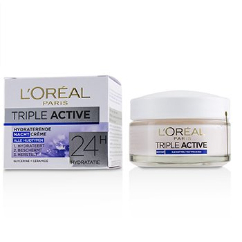 Triple Active Hydrating Night Cream 24H Hydration - For All Skin Types (50ml/1.7oz)