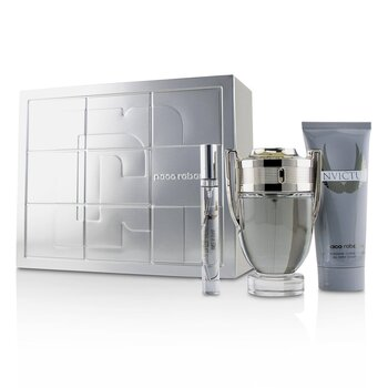 Invictus Coffret: Eau De Toilette Spray 100ml/3.4oz + All Over Shampoo 100ml/3.4oz + Eau De Toilette Spray 10ml/0.34oz (3pcs)