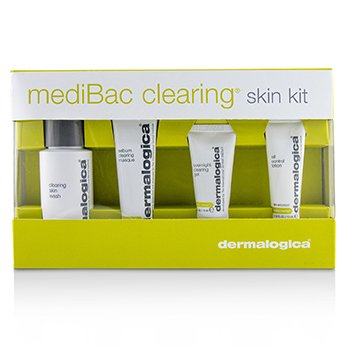 MediBac Clearing Skin Kit: Clearing Skin Wash + Sebum Clearing Masque + Overnight Clearing Gel + Oil Control Lotion (4pcs)
