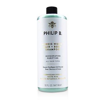 Nordic Wood Hair + Body Shampoo (Invigorating Purifying - All Hair Types) (947ml/32oz)