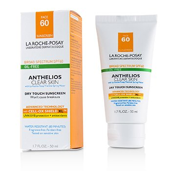 Anthelios Clear Skin Dry Touch Sunscreen For Face SPF 60 - Oil-Free (50ml/1.7oz)