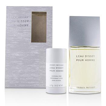 L'Eau D'Issey Pour Homme Coffret: Eau De Toilette Fraiche Spray 100ml/3.3oz + Deodorant Stick 75g/2.6oz (2pcs)
