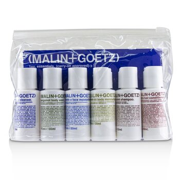 1oz. Essentials Kit: Graprfuit Cleanser+Face Moisturizer+Body Wash+Body Moisturizer+Shampoo+Conditioner (6pcs)
