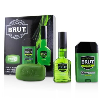 Brut Coffret: After Shave Cologne Spray 88ml/3oz + Solid Deodorant 70ml/2.25oz + Classic Bar Soap 99g/3oz (3pcs)