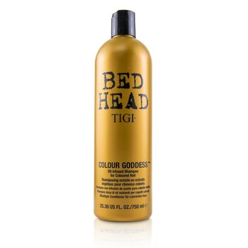 Bed Head Colour Goddess Oil Infused Shampoo - For Coloured Hair (Cap) (750ml/25.36oz)