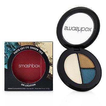 Smashbox Photo Edit Eye Shadow Trio - # On Location (All The Teals, Gold Sunnies, Pool Boy) 3.2g/0.1