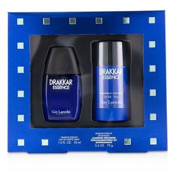 Drakkar Essence Coffret: Eau De Toilette Spray 30ml/1oz + Antiperspirant Deodorant Stick 75g/2.6oz (2pcs)