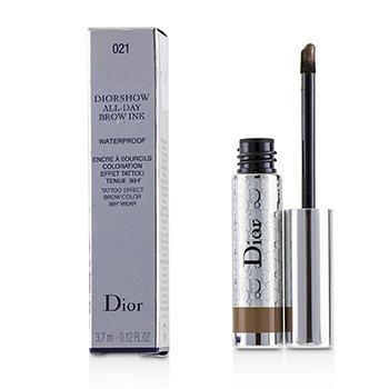 Diorshow All Day Waterproof Brow Ink - # 021 Medium (3.7ml/0.12oz)