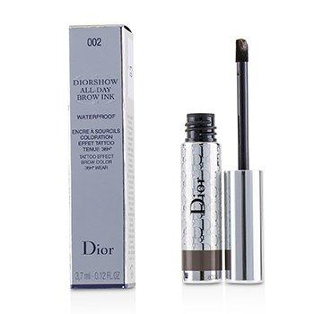 Diorshow All Day Waterproof Brow Ink - # 002 Dark (3.7ml/0.12oz)