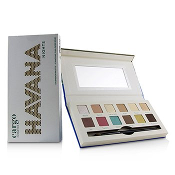 Havana Nights Eye Shadow Palette (12x Eyeshadow, 1x Dual End Brush) (12x0.8g/0.03oz)