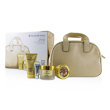 Ceramide Lift & Firm Youth Restoring Collection: Day Cream SPF 30+Ceramide Capsules+Cream Cleanser+Skin Renewal Booster+Bag (4pcs+1bag)