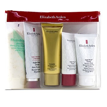 Daily Beauty Essentials Set: Purifying Cream Cleanser+ Eight Hour Cream+ Eight Hour Cream SPF 15+ Ei (5pcs)