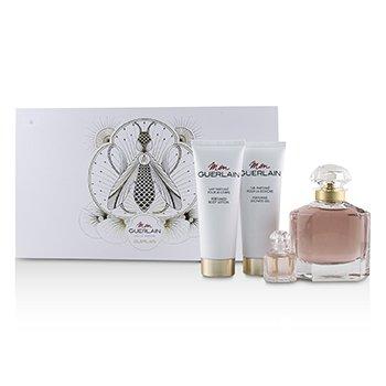 Guerlain Mon Guerlain Coffret: EDP Spray 100ml +Perfumed Body Lotion 75ml+ Perfumed Shower Gel 75ml+EDP 5ml 4pcs 3.3oz