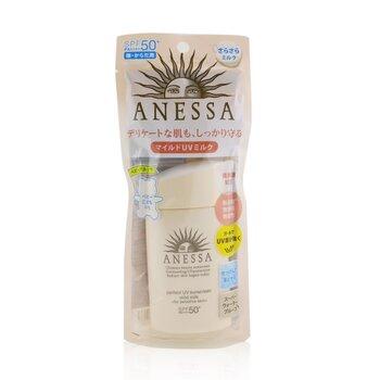 Shiseido 資生堂 Anessa Perfect UV Sunscreen Mild Milk SPF 50+ (For Sensitive Skin) 60ml/2oz - 臉部防曬及古銅粉