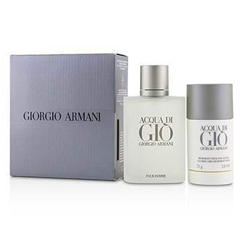 Acqua Di Gio Coffret: Eau De Toilette Spray 100ml/3.4oz + Alcohol-Free Deodorant Stick 75ml/2.6oz (2pcs)