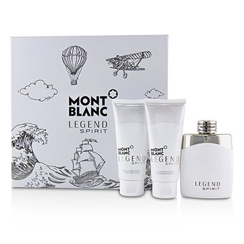 Legend Spirit Coffret: Eau De Toilette Spray 100ml/3.3oz + After-Shave Balm 100ml/3.3oz + All-Over Shower Gel 100ml/3.3oz (3pcs)