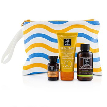 Suncare Set: Oil Balance Face Cream SPF30 50ml + Purifying Gel 75ml + Protective Hair Oil 20ml (3pcs+1bag)
