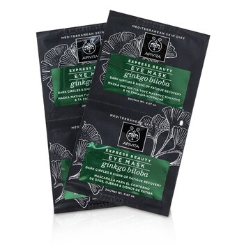 Express Beauty Eye Mask with Ginkgo Biloba (Dark Circles & Signs Of Fatigue Recovery) (6x(2x2ml))