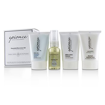 Essential Recovery Kit: Milky Lotion Cleanser 30ml+ Priming Oil 25ml+ Enriched Firming Mask 30g+ Renewal Calming Cream 30g (4pcs)
