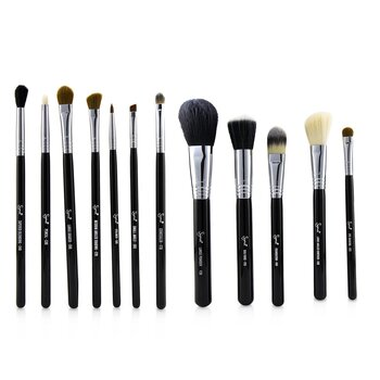 Essential Kit Professional Brush Collection - # Black (12pcs)