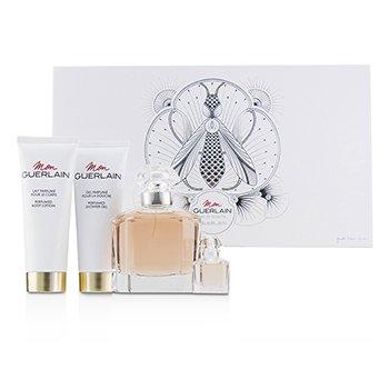 Guerlain Mon Guerlain Coffret: EDT Spray 100ml/3.3oz + Perfumed Body Lotion 75ml/2.5oz + Perfumed Shower Gel 75ml/2.5oz + EDT 5ml/0.16oz 4pcs