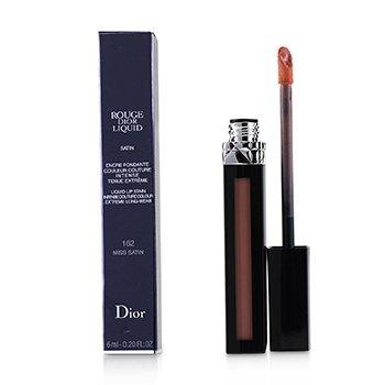 Rouge Dior Liquid Lip Stain - # 162 Miss Satin (Pinky Coral) (6ml/0.2oz)