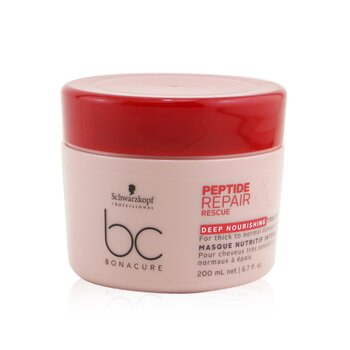 BC Bonacure Peptide Repair Rescue Deep Nourishing Treatment (For Thick to Normal Damaged Hair) (200ml/6.7oz)