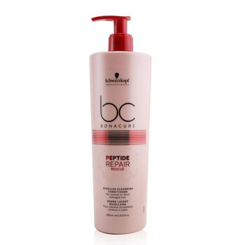 BC Bonacure Peptide Repair Rescue Micellar Cleansing Conditioner (For Normal to Thick Damaged Hair) (500ml/16.9oz)
