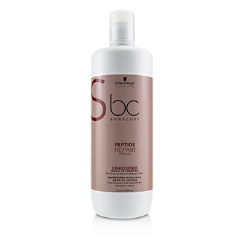 BC Bonacure Peptide Repair Rescue Deep Nourishing Micellar Shampoo (For Thick to Normal Damaged Hair) (1000ml/33.8oz)